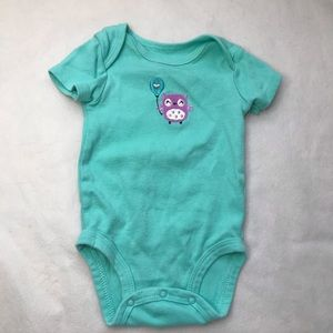 5/$25 PEKKLE teal body suit with owl detail